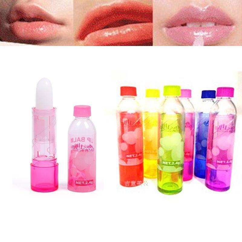New 5PCS Lovely Makeup Baby Girl Heart of Love Long Lasting Moisture Lip Balm Lipstick GG #54691(China (Mainland))