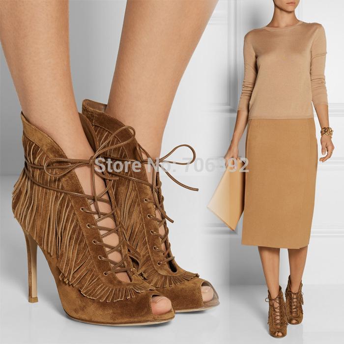 online kaufen gro handel brown fringe boots aus china. Black Bedroom Furniture Sets. Home Design Ideas