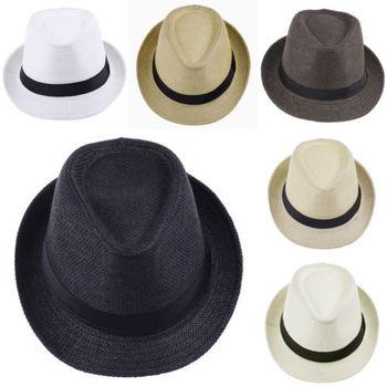 Летний пляж Sunhat мягкая фетровая шляпа соломенная шляпа мальчик девочка бандитский Cap , пригодный для детей дети