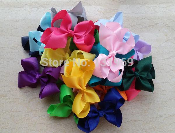 25pcs 6 Inch Big Grosgrain Ribbon Hairbow FOR Headband,Baby Girls' Hair Accessories Clip,DIY Boutique Hair Bow Hairpin U pick Q(China (Mainland))