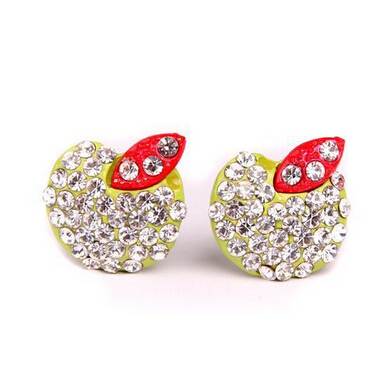 South Korea jewelry trade exquisite fruit Earrings Material: Alloy(China (Mainland))