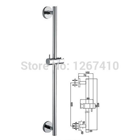 Shower bathtub adjustable brass slide bar hand shower holder shower head holder(China (Mainland))