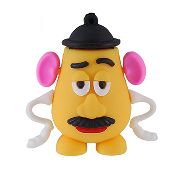 100% Genuine USB Flash Drive cartoon toy story funny Mrs Mr. Potato head memory stick pen drive 4GB 8GB 16GB 32GB 64GB pendrive(China (Mainland))