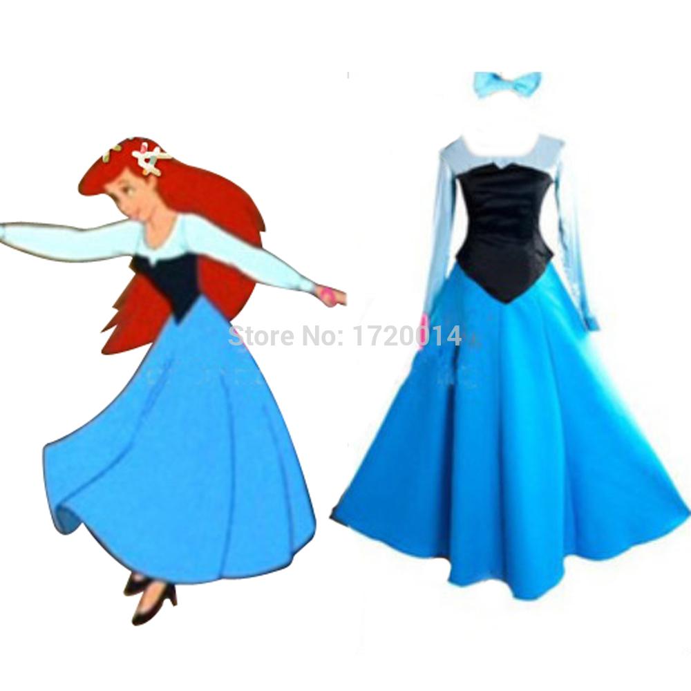 Little Mermaid Blue Dress Costume The Little Mermaid Ariel Dress
