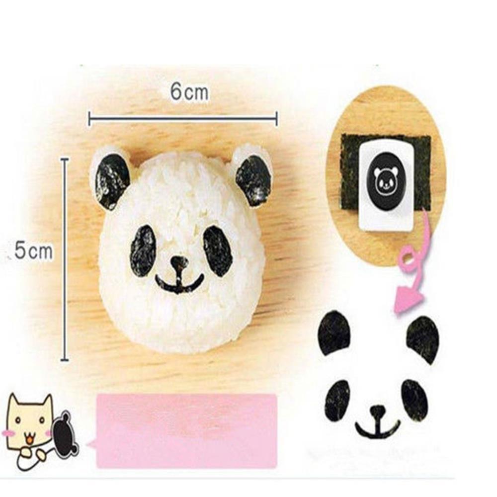 DIY Kitchen Tool Supply Panda Rice Ball Onigiri Sushi Maker Mold Mould Nori Punch Former Kit(China (Mainland))