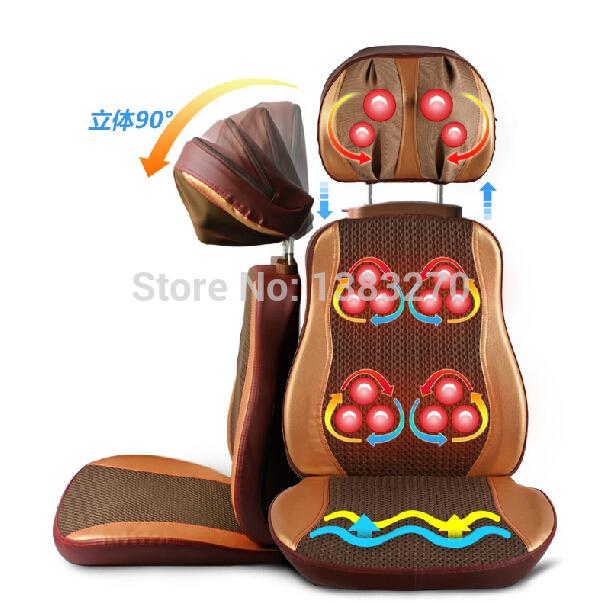 Electric heated Luxury massage cushion vibrating neck back massage chair cover(China (Mainland))