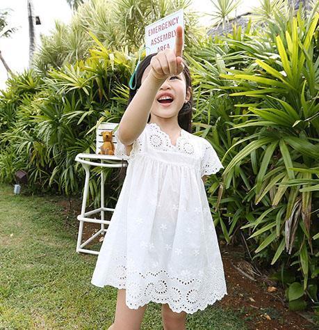 AliExpress.com Product - 2015 summer new arrival girl cotton lace dress for kids children clothes white lace princess korean cute dress size 100-140