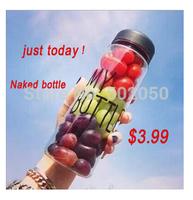 With Bag 500ml Sport Plastic Fruit Juice Infuser Water Bottle Flip Lid  Outdoor sport My bottle