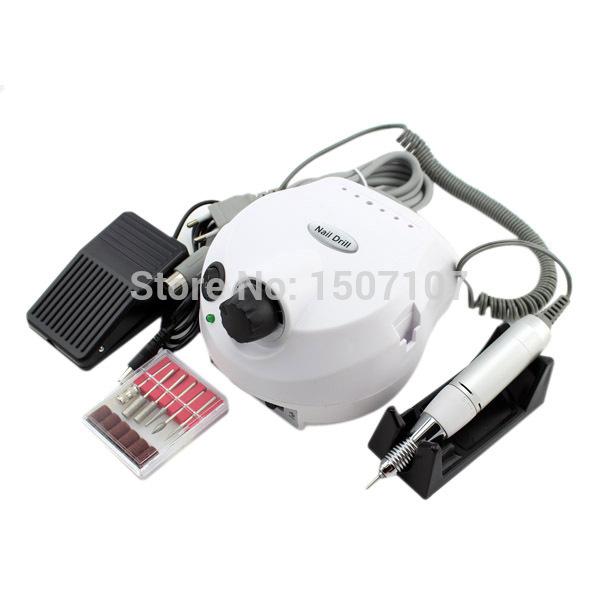 Professional White 30,000 Rpm Electric Nail Drill File Manicure Kit 220V Eu Plug Nail Tools for Nail Gel(China (Mainland))