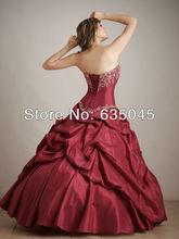 2015 Custom Made Vestidos De Quinceanera Taffeta Crystal Applique Flower Quinceanera Dress Masquerade Ball Gowns