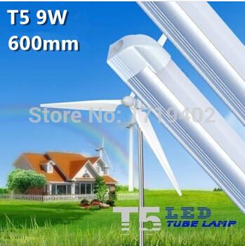 Free shipping 1pcs/lot led t5 tube 600mm 9w 3pin high bright 750-880lm 3014 smd led fluorescent tube light(China (Mainland))