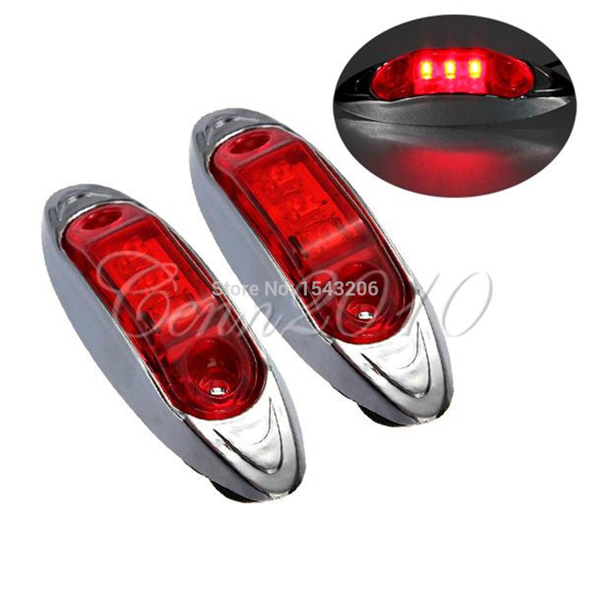 12V Trailer Truck Caravan AMBER /RED /WHITE LED Side Marker Light Lamp Clearance(China (Mainland))