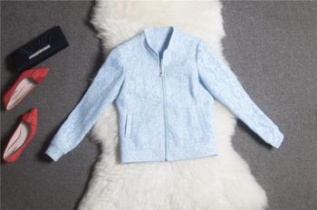 2015 весна новинка взлетно-посадочной полосы высокое качество женщин полный шнурок с длинными рукавами хлопок выращивания диких темперамент резные куртка