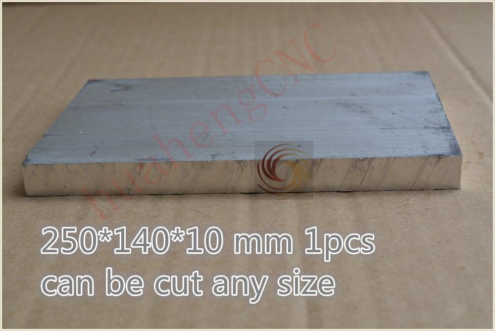 1pcs 250 mm* 140 mm* 10 mm pure aluminum plate metal aluminum sheet 6061 diy cnc part intelligent robot model board