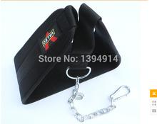Free shipping New 2015 Weight bearing belt  Black Dipping Belts Weight Lifting Gym Dip waist Belt Mesh With Metal Chain JZ-09