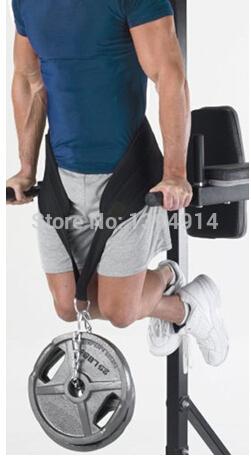 Free shipping New 2015 Weight bearing belt Black Dipping Belts Weight Lifting Gym Dip waist Belt