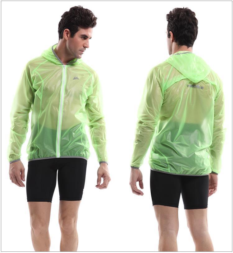 VEOBIKE Tour de France Cycling Wind Proof Water Proof 50%TPU Sports Coat Rain Coat White green(China (Mainland))