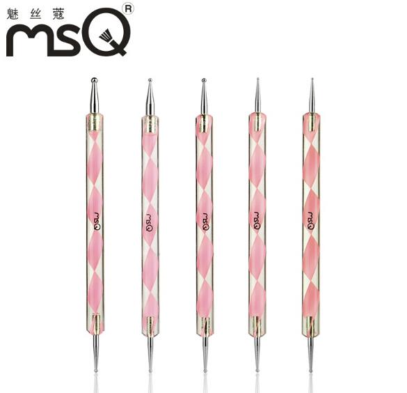 pcs nail art brush dotting Acrylic Nail art dotting Pen Marbleizing tools for Nail Polish Paint Manicure Dot Nail Art Set(China (Mainland))