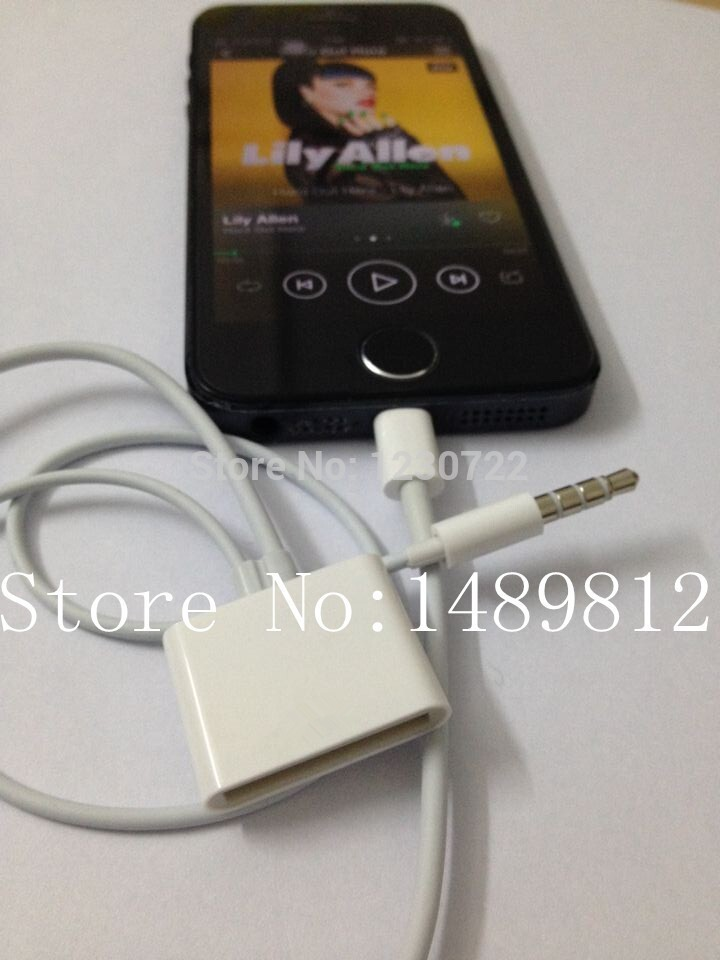 8 Pin To 30 Pin Dock 3.5mm ihome Audio Charger Adapter Converter 30pin to 8pin Cable For iPhone 5 5S IPAD 4 IPOD