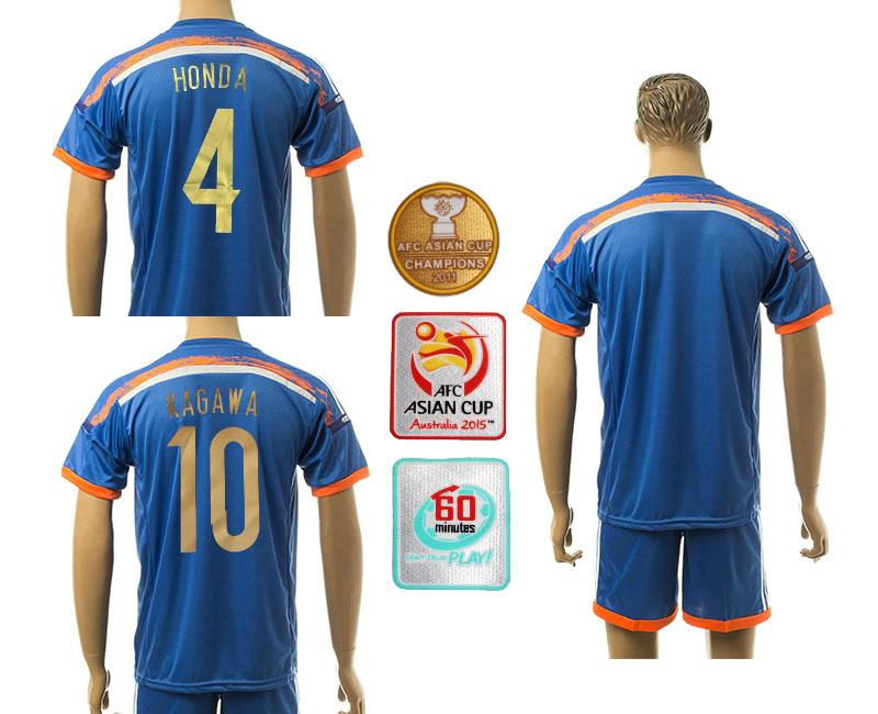 Soccer jersey Japan 2016 top quality Japan Football shirt blue home team HONDA KAGAWA japan soccer Shirts 15 16(China (Mainland))