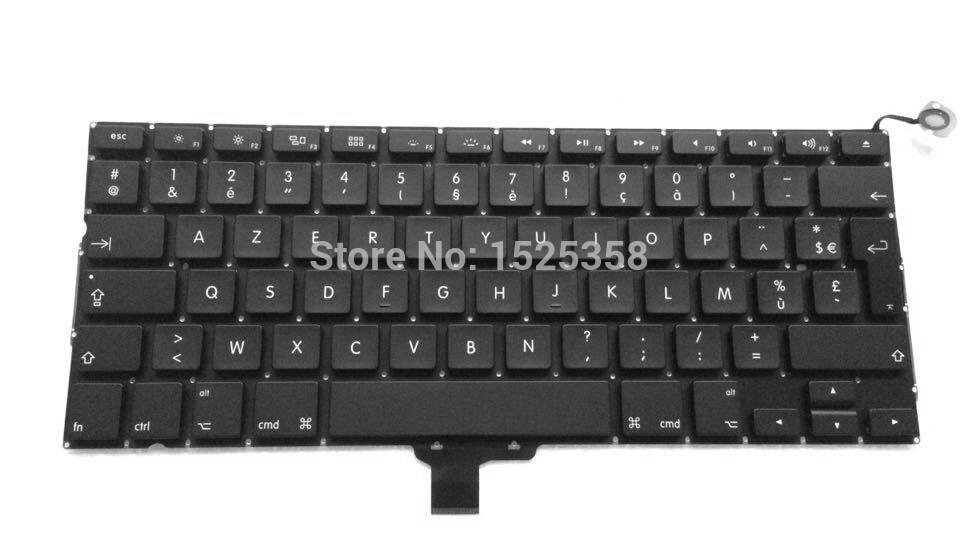 "Brand New Original laptop keyboard For Macbook Pro 13"" A1278 FR French Layout AZERTY keyboard 2009-2013 Year(China (Mainland))"