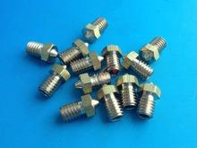 Wholesale 10pcs/lot 3D Printer Nozzle Full Metal M6 threaded Nozzle 0.5mm For E3D 3.0mm filaments DIY Reprap Makerbot