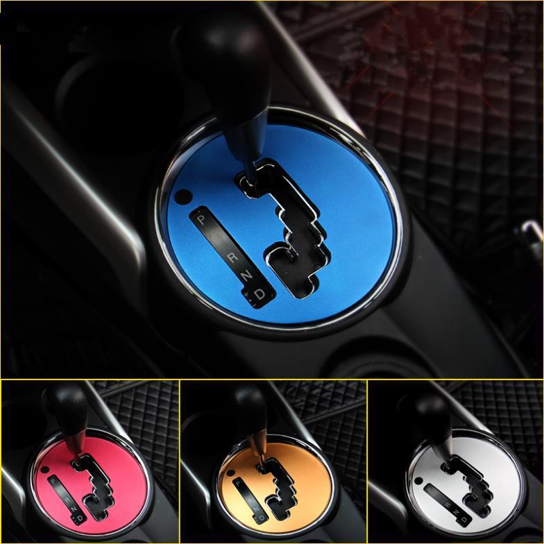 Free shipping new Car Aluminium alloy Gear decorative For MITSUBISHI ASX MITSUBISHI ASX Accessories 2013 14