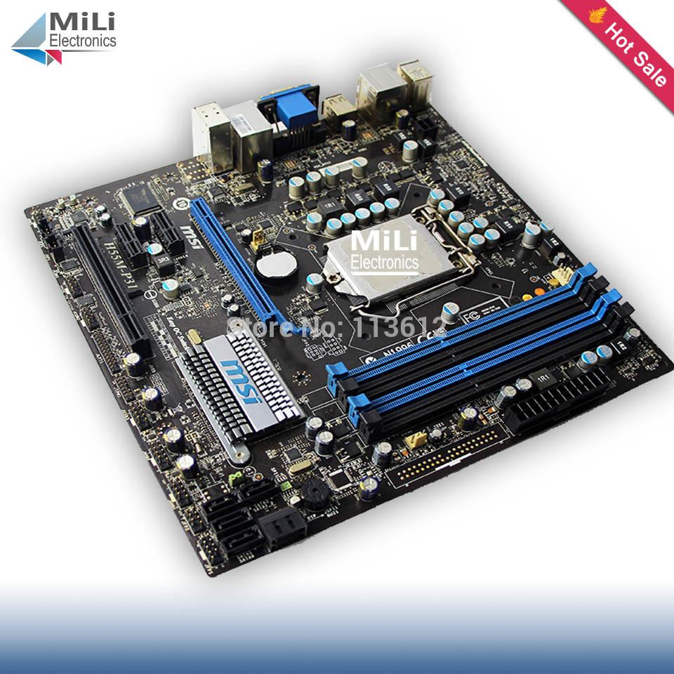 LGA1156 Second hand Original Desktop motherboard for MSI H55M-P31 H55 LGA 1156 DDR3 Micro ATX 16GB VGA for Core i7 i5 i3 CPU(China (Mainland))