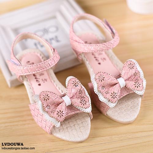 Девочка сандалии лето обувь для дети милый дети обувь