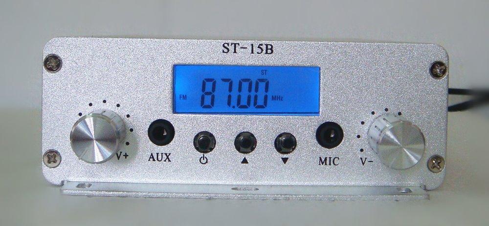 1.5w/15w FM stereo radio broadcast transmitter 87-108MHZ host(China (Mainland))