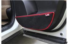 prevent dirty door protection Plush pad door mat auto accessories for Toyota Rav4 rav 4 2014