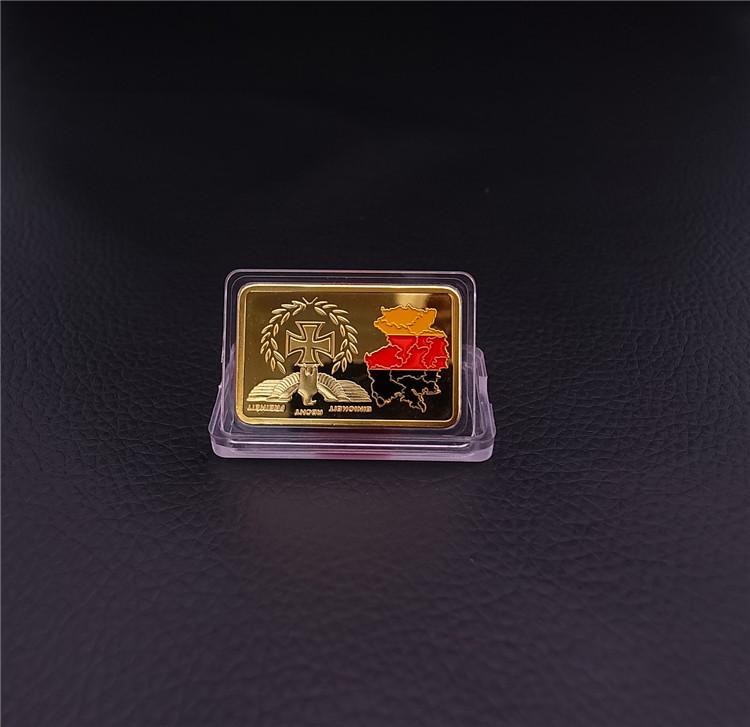 2015 new Gold Bar Metal Crafts Bullion iron plated gold German Territory Painted Gold Bar free shipping (A0007) 5pcs/lot(China (Mainland))