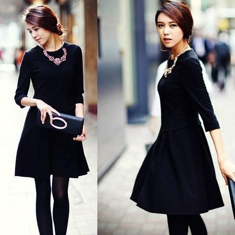 2015 new fashion Korean Slim elegant temperament long-sleeved dress women black dress(China (Mainland))