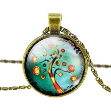 Fashion Pendant Necklace Vintage Bronze Statement Chain Necklace for Woman Classic Life Tree Jewelry for 2015