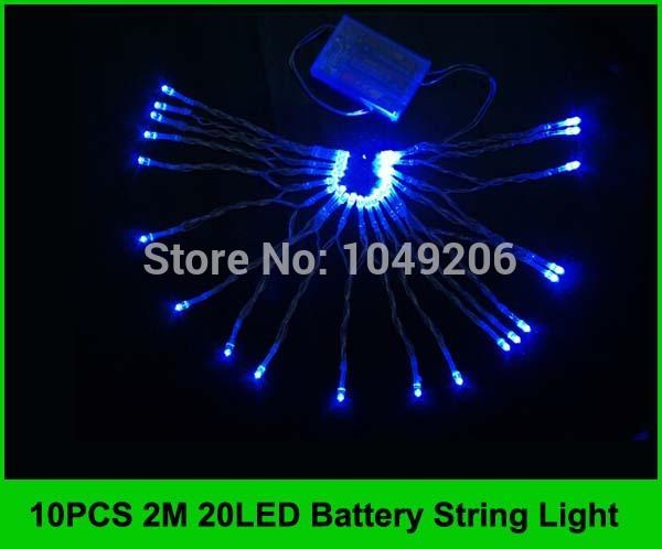 10PCS 2M 20LED Led 3*AA Battery String Lights Outdoor Decoration String Light Bulbs Garland Xmas Holiday Wedding Party(China (Mainland))