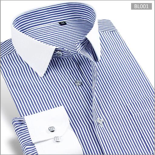 2015 Spring new mens dress shirts long sleeve slim fit camiseta masculina brand men clothes size