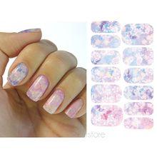 12 Pcs/Sheet Beautiful Flower Design Nail Sticker Water Transfer Decals DIY Manicure Foils Stamping Nail Art Equipme FYHJ0075