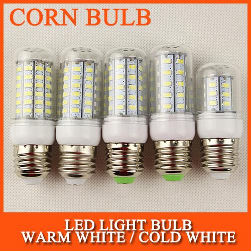 E27 LED E14 LED Lamps 3W 5W 7W 11W 12W 15W 18W Light 220V 5730 SMD Corn Bulb With CE ROHS Christmas Chandelier Lighting(China (Mainland))