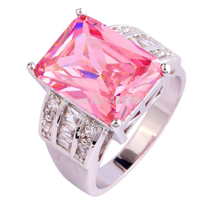 get cheap pink sapphire engagement rings princess