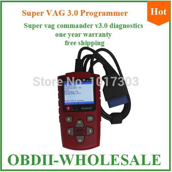 2015 with Multi-function Super VAG 3.0 Programmer brand quality super vag commander in stocks v3.0 super vag one year warranty(China (Mainland))
