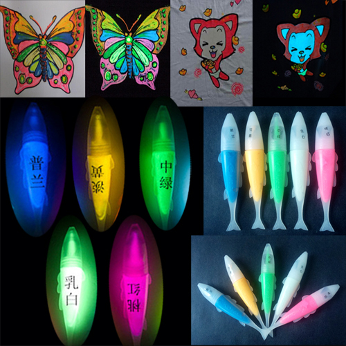 5 Colors DIY Graffiti Acrylic Luminous Paint Pigment Neon UV Textile Paint for Fabric Glow in the Dark Paint Glowing Fluorescent(China (Mainland))