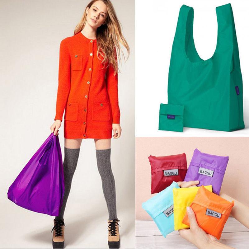New Eco Shopping Travel Shoulder Bag Pouch Tote Handbag Folding Reusable Bags(China (Mainland))