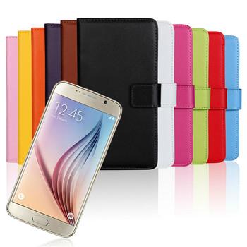 Бумажник откидная крышка чехол для Samsung G9200 цифровые Galaxy G920 сотовый телефон бумажник для Samsung Galaxy S6 S в . и . PU кожаный чехол с слот для карт