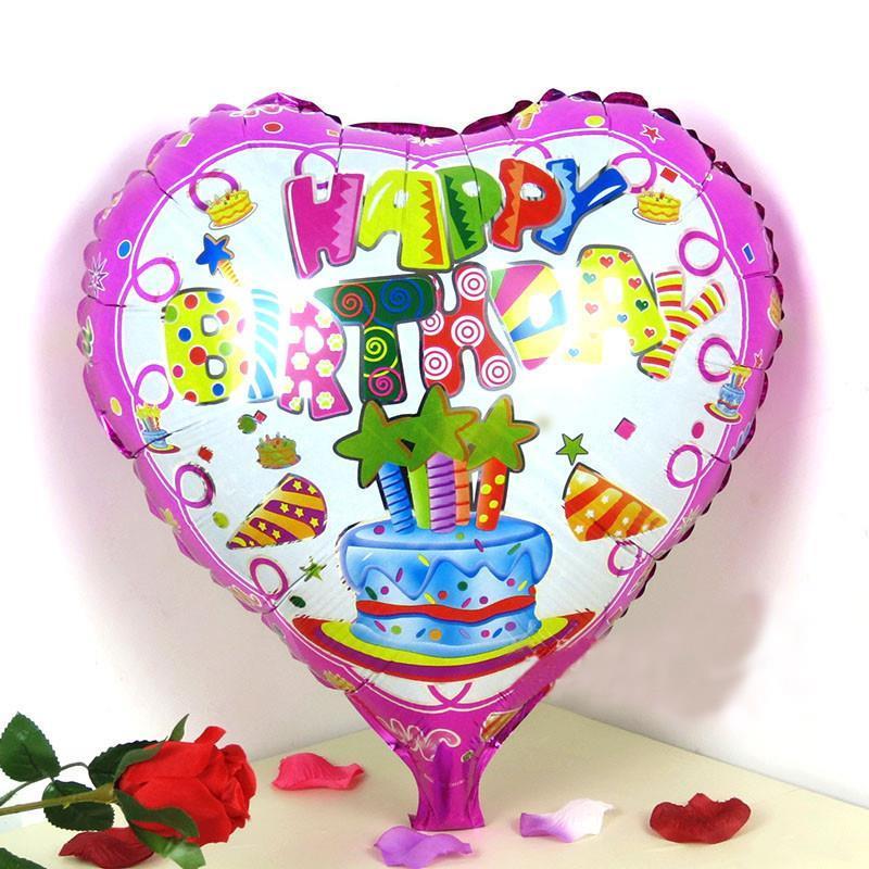 Happy Birthday Heart Balloons Heart Shape Happy Birthday