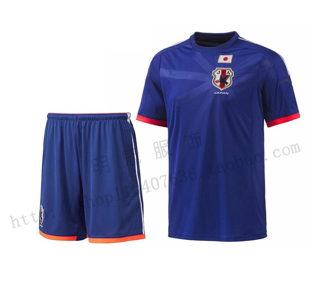 Soccer jersey Japan 2014 world cup top quality Japan Football shirt blue home team HONDA KAGAWA Japan Soccer Jerseys Shirt(China (Mainland))