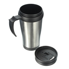 New Brief Desgin 500ml Portable Stainless Steel for thermos Heating Mug Travel Car Coffee Tea Cup child keepwarm water Bottle