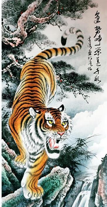 Ancient chinese tiger drawing - photo#13