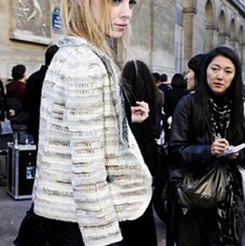 Хлопок полушерстянная женщины трикотаж куртки осень весна приталенный короткая женщины ...