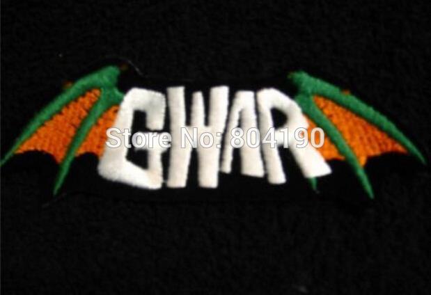 "3"" GWAR Rock Band Memorabilia Jacket Shirt Pants Hats Music Band Iron On On Patch Tshirt TRANSFER MOTIF APPLIQUE Rock Punk Badge(China (Mainland))"