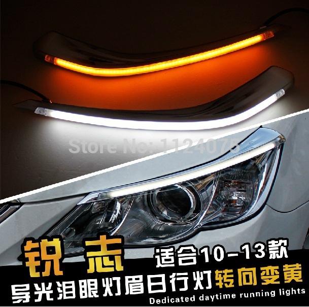 Free shipping One Pair Angel Eyes LED Car Headlight Eyebrow Eyelids Headlights For Toyota Reiz 2010 2011 2012 2013(China (Mainland))